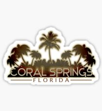 Coral Springs Florida palm tree design Sticker