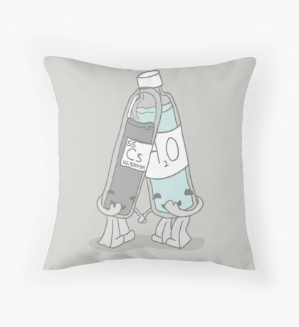 The Cutest Couple: Cesium & Water Throw Pillow