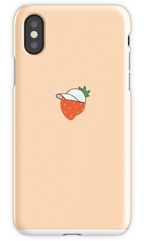 tumblr iphone cases quot strawberry in a hat pink aesthetic cases quot iphone cases 13145