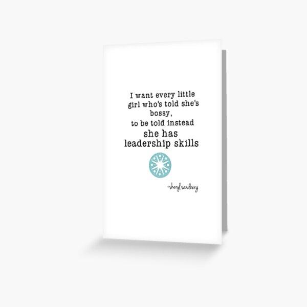 Leadership Skills  Greeting Card