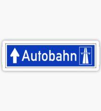Autobahn Sign, Germany Sticker