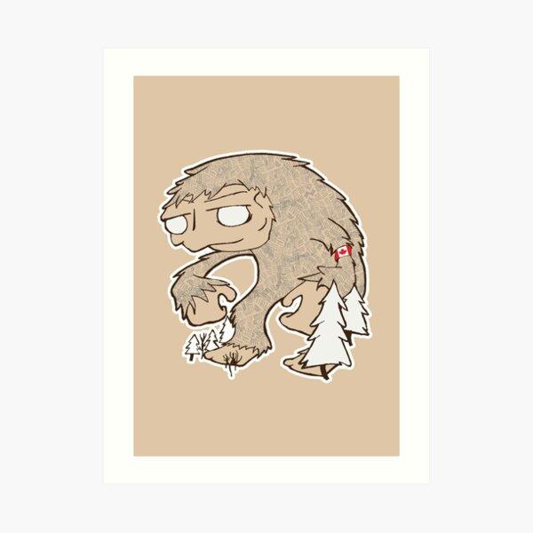 Sasquatch Friend Art Print