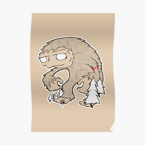 Sasquatch Friend Poster