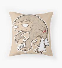 Sasquatch Friend Throw Pillow