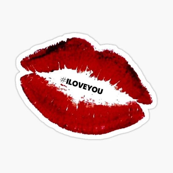 I LOVE YOU KISS Sticker