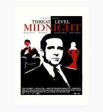 Lámina artística La oficina: Póster de película de medianoche de nivel de amenaza