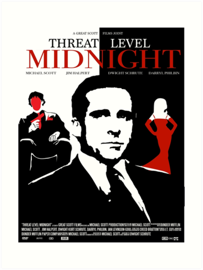 The Office Threat Level Midnight Movie Poster Art Prints by