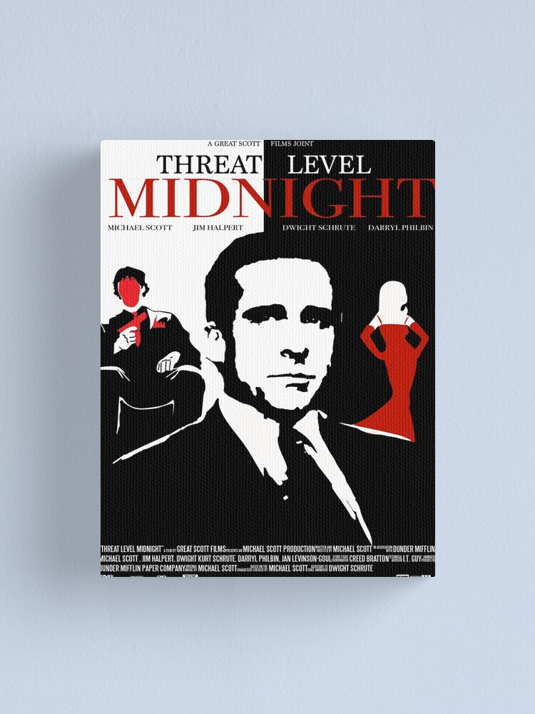 Alternate view of The Office: Threat Level Midnight Movie Poster Canvas Print