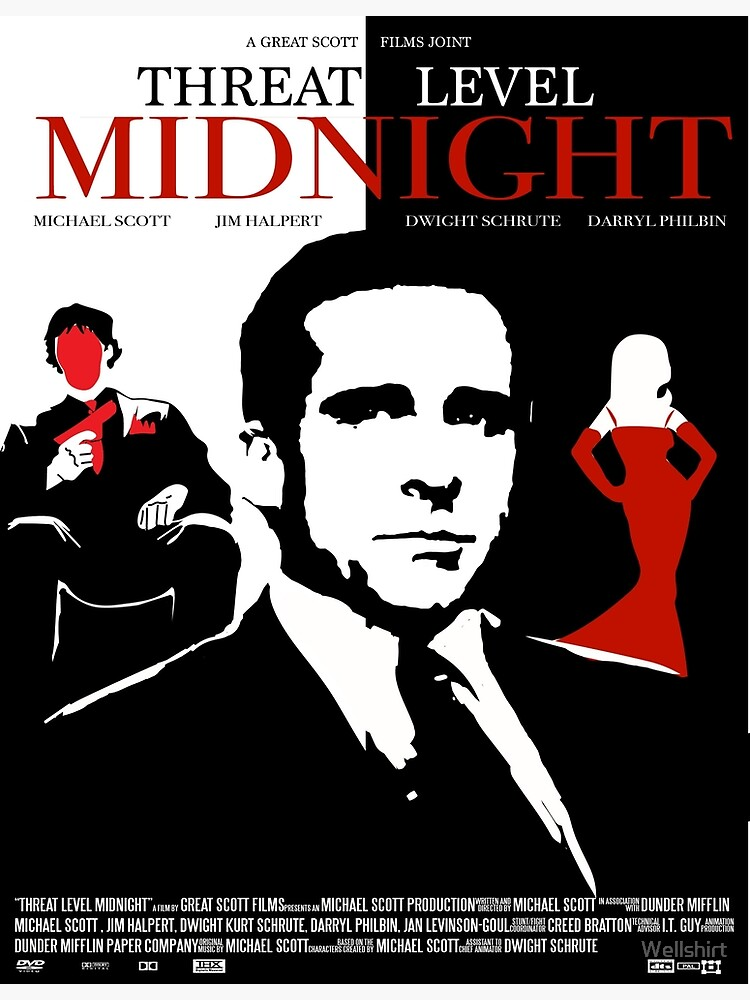 The Office: Threat Level Midnight Movie Poster by Wellshirt