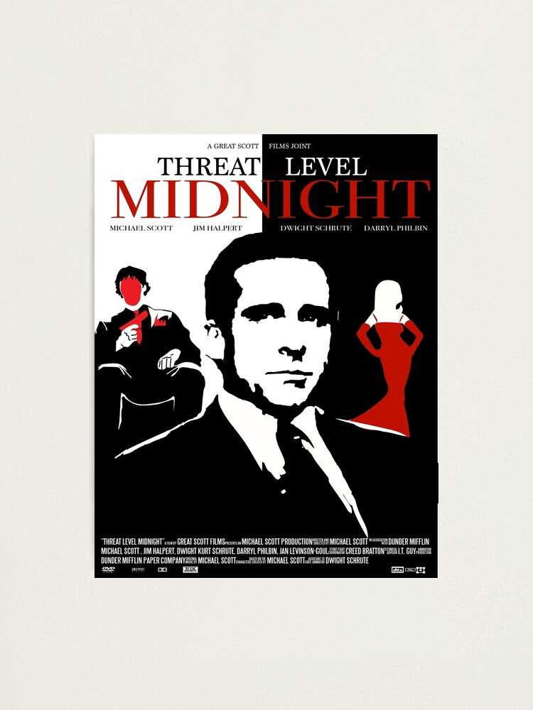 Alternate view of The Office: Threat Level Midnight Movie Poster Photographic Print