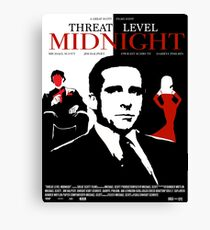 The Office: Threat Level Midnight Movie Poster Canvas Print