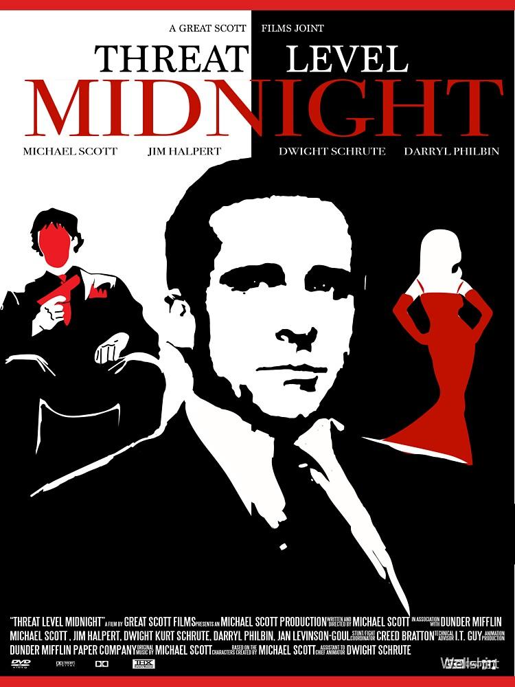 La oficina: Póster de película de medianoche de nivel de amenaza de Wellshirt