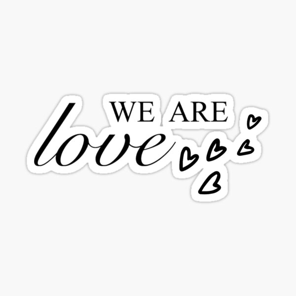 We are love collection Sticker