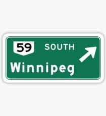 Winnipeg, Road Sign, Canada Sticker