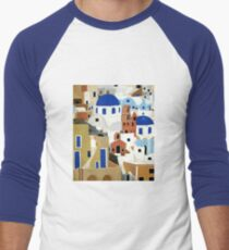 Santorini Men's Baseball ¾ T-Shirt