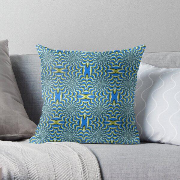 Pixers Optical illusion ellipse swirl Throw Pillow
