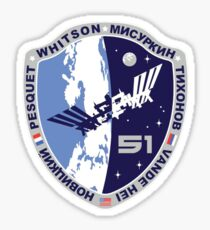 Expedition 51  Original Crew Mission Patch Sticker