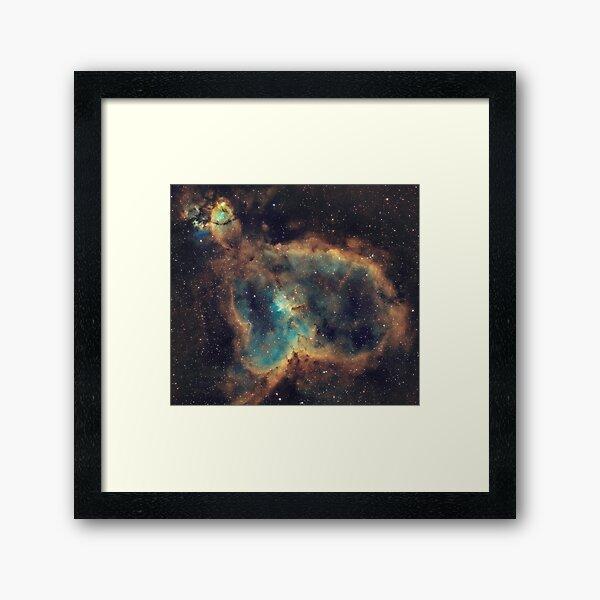 Heart Nebula (IC 1805) - Hubble Palette Narrowband Framed Art Print