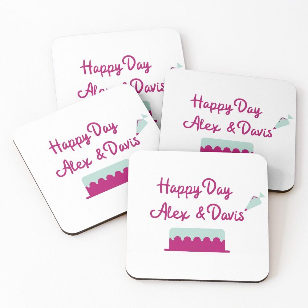 Happy Day Alex & Davis Coasters (Set of 4)