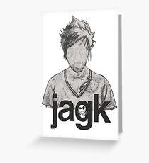 Jacko Greeting Card