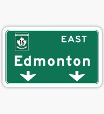 Edmonton, Road Sign, Canada Sticker