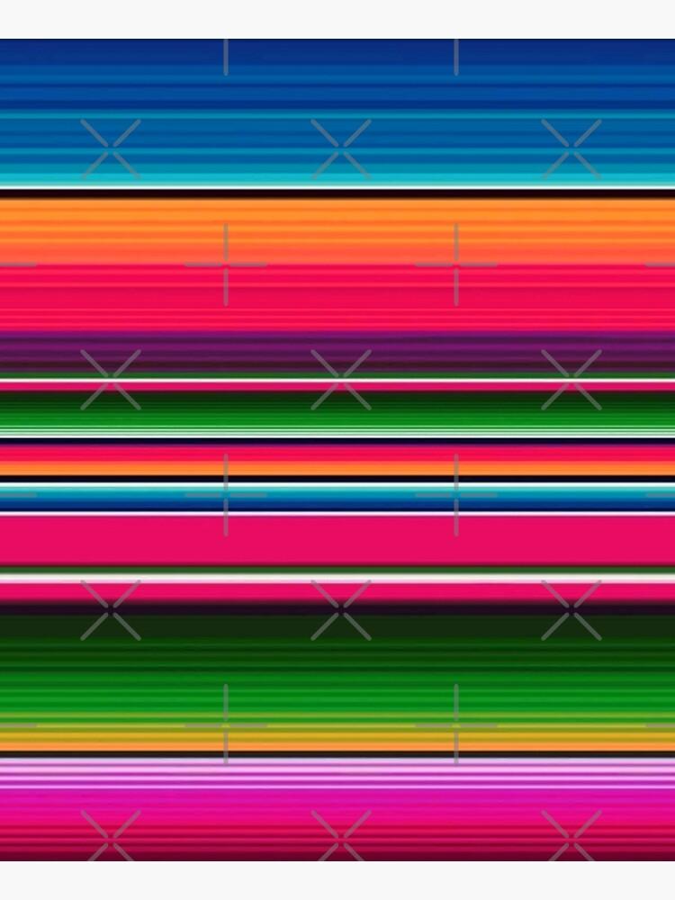 Mexican Blanket Striped Fiesta Serape  by ColorFlowArt