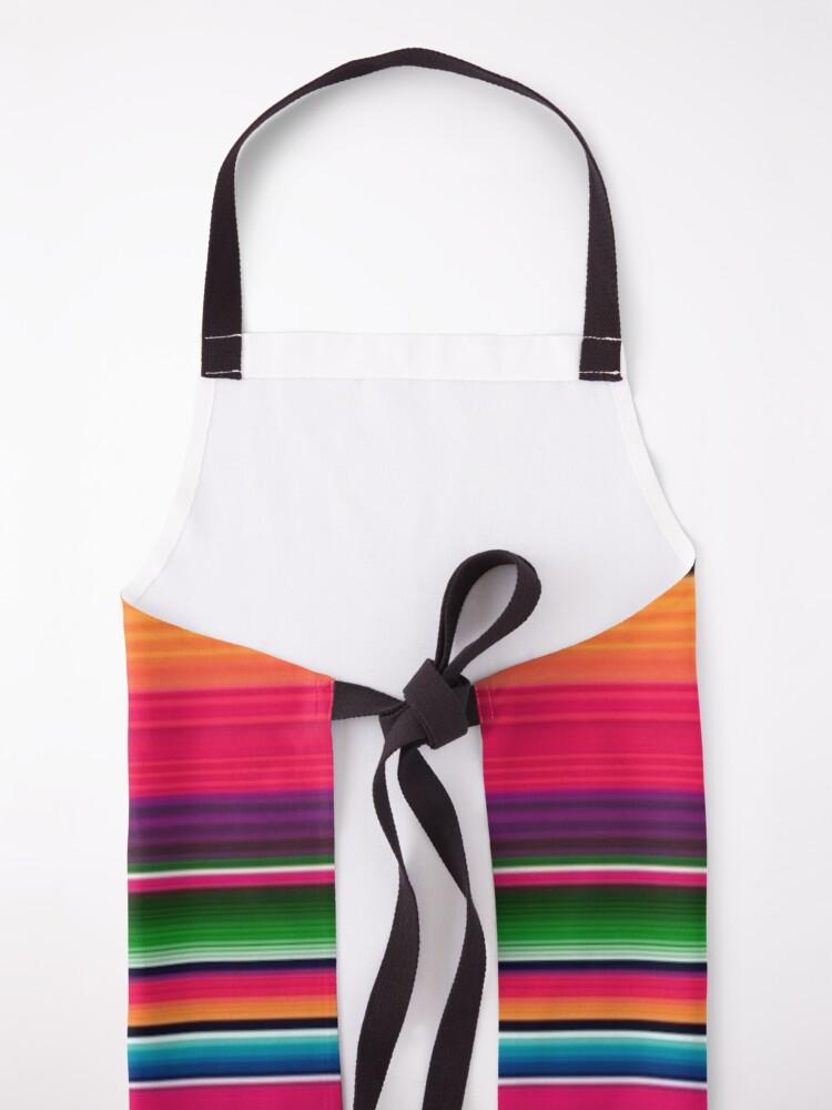Alternate view of Mexican Blanket Striped Fiesta Serape  Apron