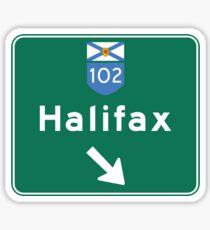 Halifax, Nova Scotia, Road Sign, Canada Sticker