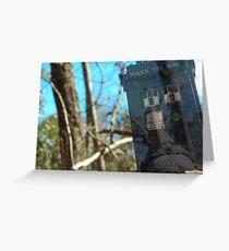 The TARDIS Greeting Card
