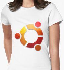 Ubuntu Logo Women's Fitted T-Shirt