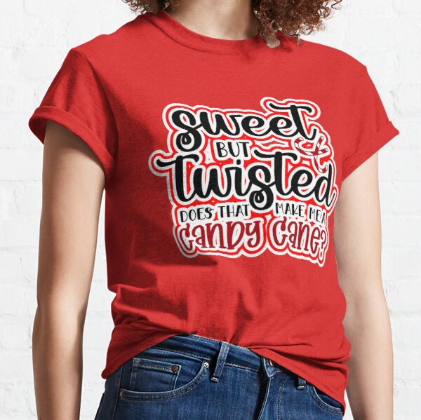 Funny Family Christmas Humour Candy Cane Sarcasm Humor RED Design Gift Idea  Classic T-Shirt
