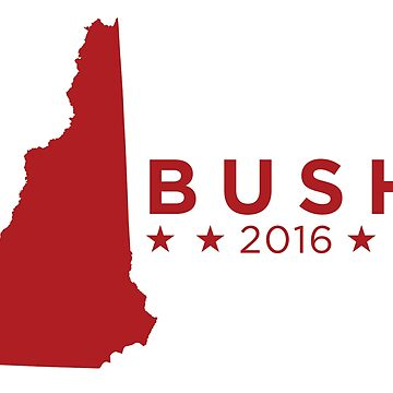 Jeb Bush 2016 State Pride - New Hampshire by unitedinthreads