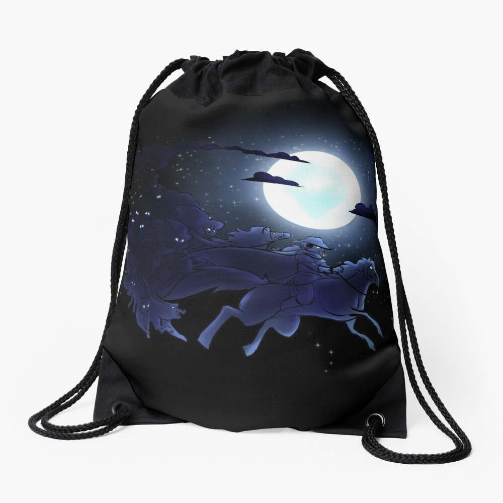 Odin's Hunt Drawstring Bag