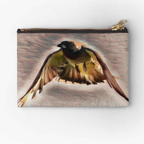 Black-faced Cuckoo-Shrike Graphic Zipper Pouch