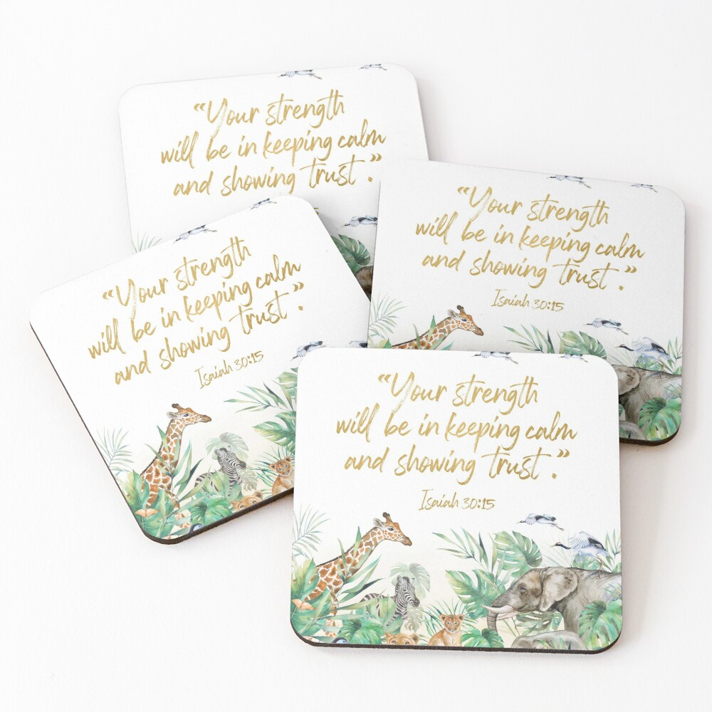 2021 YEARTEXT JUNGLE Coasters (Set of 4)