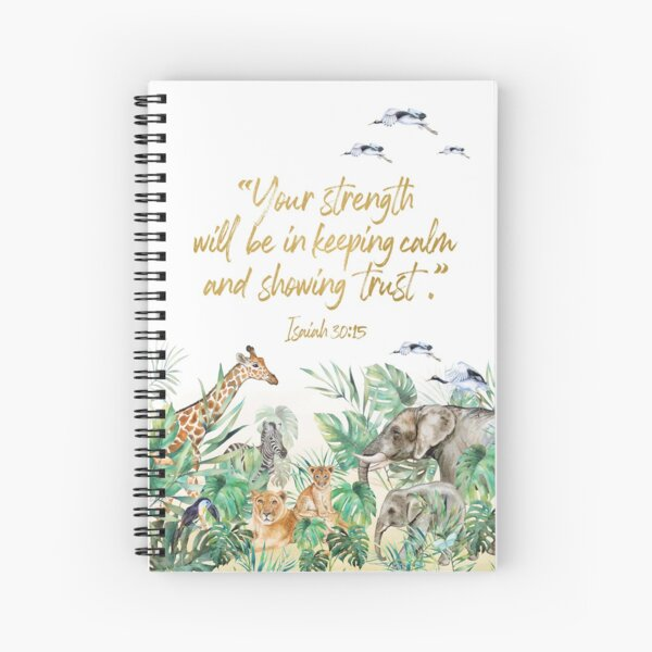 2021 YEARTEXT JUNGLE Spiral Notebook