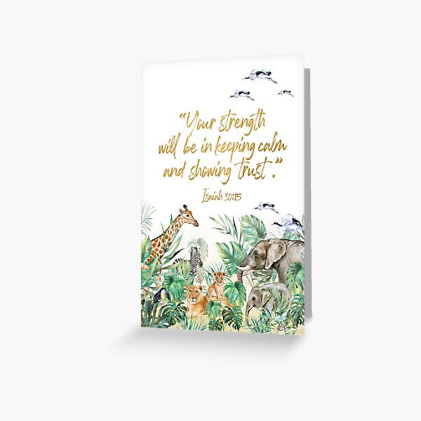 2021 YEARTEXT JUNGLE Greeting Card