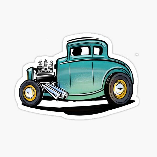 Cartoon Deuce Coupe Sticker