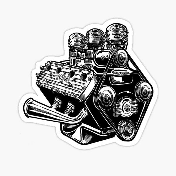 Flathead V8 Sticker