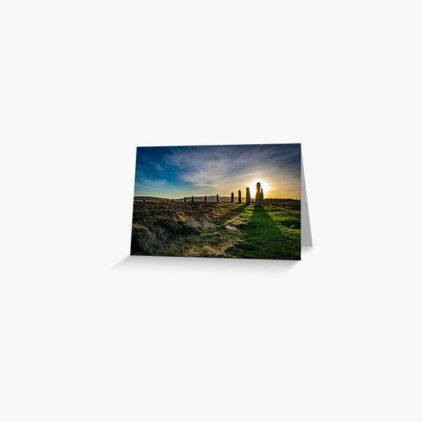 Ring of Brodgar Sunset - Orkney Scotland Greeting Card