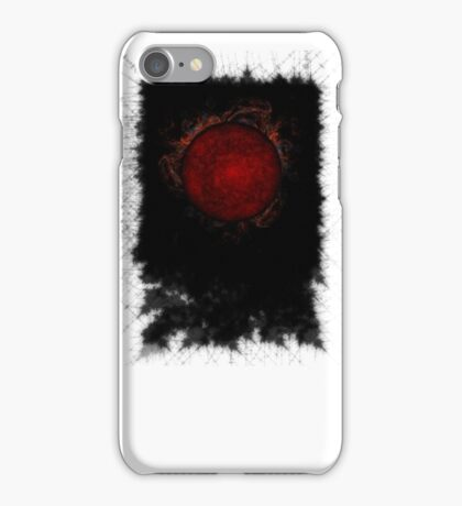 black sky sun iPhone Case/Skin