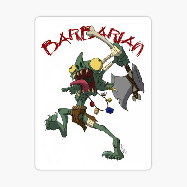 Goblin Barbarian Sticker