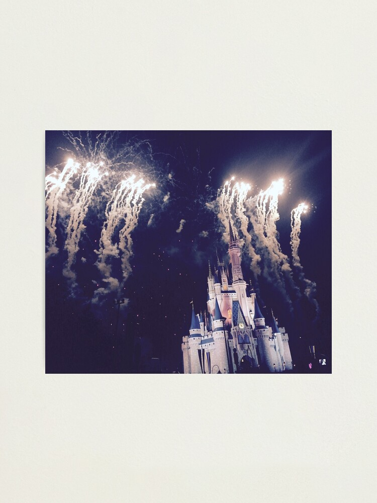 Alternate view of Magic Kingdom Castle With Fireworks Photographic Print