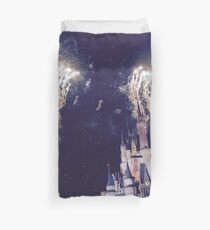 Magic Kingdom Castle With Fireworks Duvet Cover