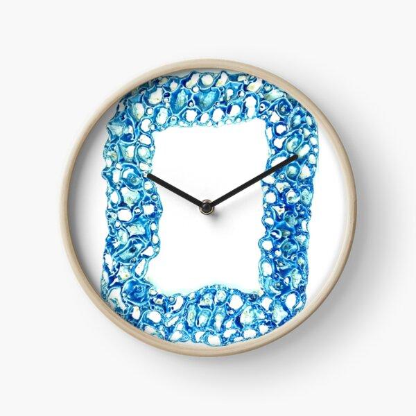 Blue Coral Reef Inspired Ceramic Sculpture Made In Melbourne Australia Clock
