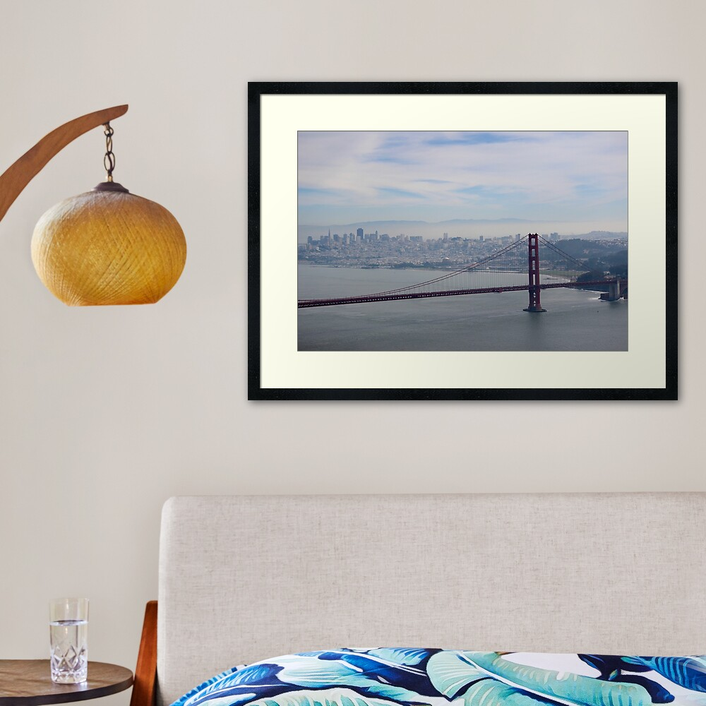 San Francisco skyline - winter  Framed Art Print