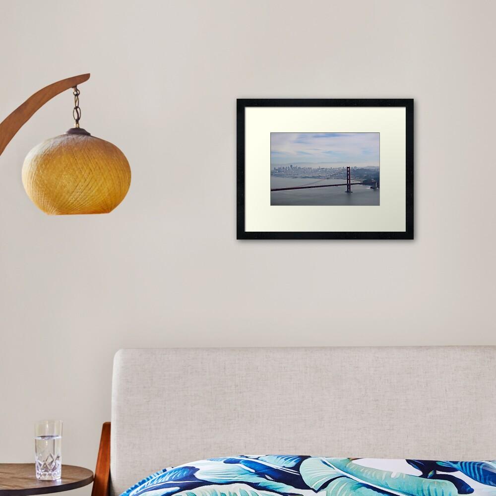 San Francisco skyline - winter  Framed Art Print