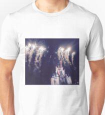 Magic Kingdom Castle With Fireworks Unisex T-Shirt