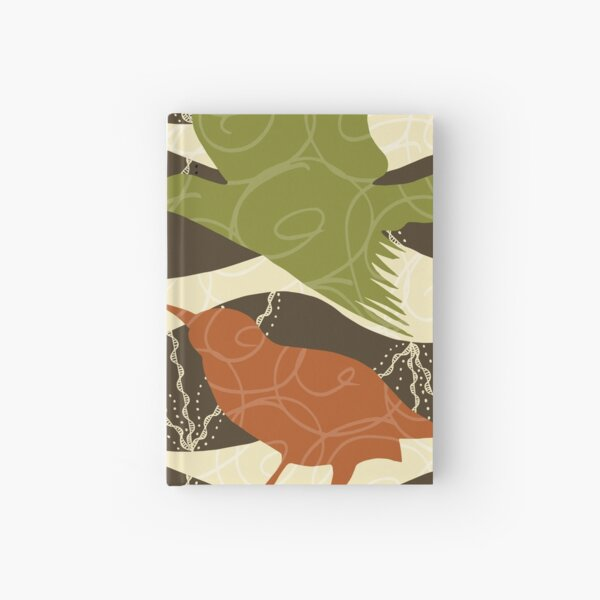 Colorful Birds and Doodles Hardcover Journal