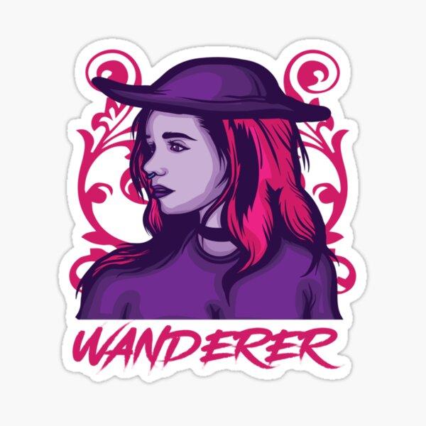 Wanderer sthetische Pastell Gothic Geschenk Sticker
